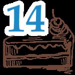 14 szelet