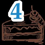 4 szelet