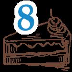 8 szelet