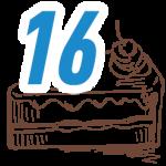 16 szelet