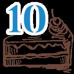 10 szelet