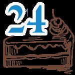 24 szelet