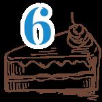 6 szelet